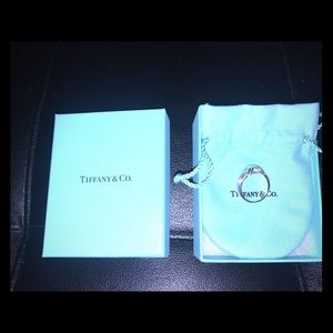 Tiffany & Co. signature sterling silver X ring
